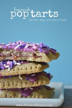 Homemade PopTarts (gluten, egg, and dairy-free)