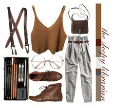 """""""the sleepy librarian"""" by prettyfunky on Polyvore"""