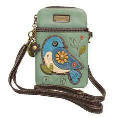 Chala Colorful Critters Three-in-one Crossbody Bags - Bird Leather Embroidery, Waist Pouch, Hip Bag, Leather Bags Handmade, Cute Purses, Leather Accessories, Leather Purses, Fashion Bags, Crossbody Bags