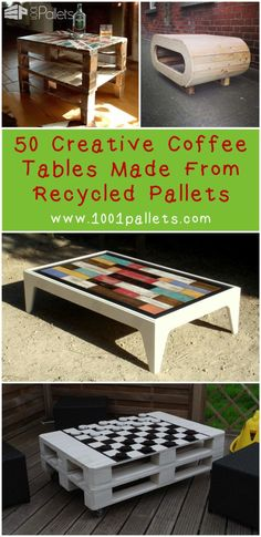 50 Creative Coffee Tables Made From Recycled Pallets For Your Inspiration One of the most active categories in 1001Pallets is certainly the coffee table one. We received & still continue to receive a lot of coffee tables ideas made from repurposed pallets, from the simple ones to the more complex and modular ones. If you are a beginner and want to jump into the wonderful world...