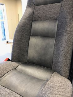 This seat design using different fabrics but in the same palette for both visual appeal and texture is so stylish. Bus Coach, Different Fabrics, Motorhome, Vehicle, Charcoal, Palette, Texture, Stylish, Interior