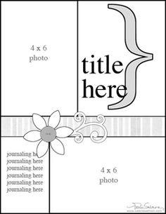 Got Sketch?: sample scrapbook layout