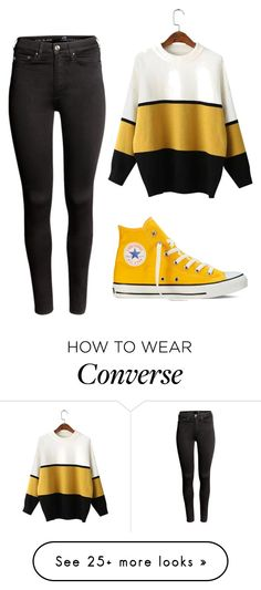 """Forgotten."" by clea69 on Polyvore featuring H&M and Converse"