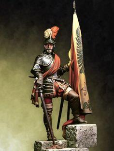 Hernan Cortes Conquistador, Military Figures, Military Art, Aztec Culture, Game Concept Art, Character Concept, Landsknecht, Military Modelling, Knight