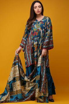 d5a5313e92 WARDA 3 Piece Lawn Print 3818158 - Blue Pakistani Dresses Online