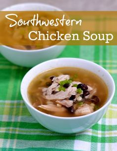 Southwestern Chicken Soup   Real Food Real Deals #healthy #recipe #soup