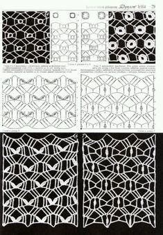 "Photo from album ""Duplet on Yandex. Crochet Stitches Chart, Crochet Symbols, Crochet Motifs, Crochet Diagram, Filet Crochet, Crochet Patterns, Crochet Curtains, Crochet Fabric, Crochet Lace"
