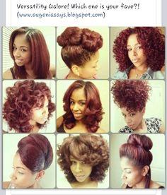 Natural hair versatility