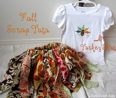 Scrap Fabric Tutu Tutorial - perfect for making Halloween costumes!