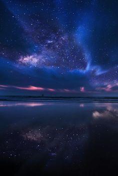 Stars above water Northern Lights, Aurora Borealis, Aurora