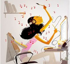aficion musica: Pascal Campion. Pascal Campion, Concert Posters, Listening To Music, Digital Illustration, Clip Art, Animation, Doodle, Prints, Anime