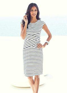 Striped Jersey Dress #ShiptoShore