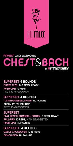 FitMiss Chest & Back Workout