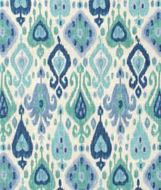 Richloom Django Turquoise Fabric - $17.95 | onlinefabricstore.net