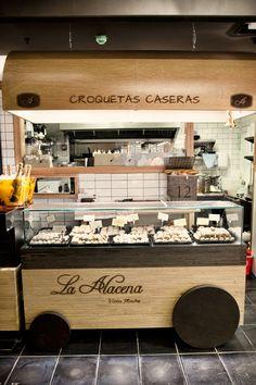 Croquetas caseras La Alacena de victor montes, en el Mercado de San Miguel... Estoy hay que verlo (probarlo)!