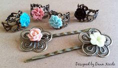vintage rings and hairpins