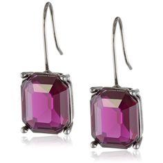 Jessica Simpson Pop Rocks Amethyst Earrings ($14) ❤ liked on Polyvore featuring jewelry, earrings, rock earrings, rock jewelry, jessica simpson jewelry, amethyst jewelry and amethyst earrings