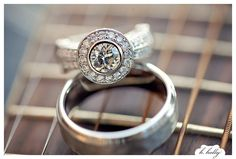 wedding rings on guitar strings