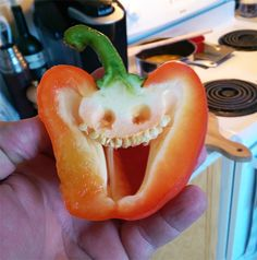 Pareidolia : funny faces everywhere Weird Fruit, Funny Fruit, Weird Food, Funny Food, Fruit And Veg, Fruits And Vegetables, Flowey Undertale, Funny Vegetables, Things With Faces