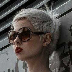 #pixie #haircut #short #shorthair #h #s #p #shorthaircut #blondehair #b #hair #blondeshavemorefun #platinumhair #blonde #haircuts #стрижка