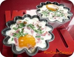Oeufs cocotte aux épinards, lardons et crème fraîche (ww propoints)
