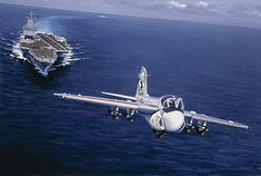 A-6 Intruder just after launch.