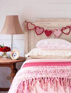 Heart Garland -- romantic idea for Valentine's day
