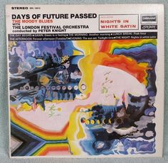 """THE MOODY BLUES 1967 Days Of Future Past 12"""" Vinyl 33 LP Knights In White Satin #BluesRock"""
