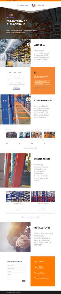 Diseño de Paginas Web - ESTANTERÍA DE ALMACENAJE - www.segaracks.com, proyecto desarrollado en el 2018 por HostingPage.Com  20 AÑOS DESARROLLANDO PAGINAS WEB Somos una Agencia de soluciones creativas e integrales de comunicación, diseño web, desarrollo, programación y mercadotecnia para web y móviles. Design Portfolio Layout, Page Layout, Design Web