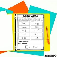 Did you know nonsense words as an assessment can be beneficial for your instructional planning? They gauge students' abilities to decode accurately because they can't rely on their sight word knowledge, context clues, or pictures. My beginning readers intervention binder has a nonsense word section for you to work with, AND my ELA assessment binder has three nonsense word assessments to use for intervention and progress monitoring! Nonsense Words, Cvc Words, Instructional Planning, Fluency Activities, Blending Sounds, Letter Identification, Progress Monitoring, Context Clues, Reading Intervention