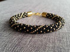 Polka dot bracelet bead crochet rope bracelet by fridaysfactory