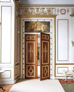 Doors to.] - An enfilade in Rosersbergs Slott La Malmaison, French Empire, Space Place, Interior Decorating, Interior Design, Classical Architecture, Neoclassical, Decoration, House Design