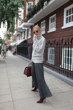 great greys. Pernille in London.  #LookDePernille