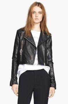 Jessica Simpson 'Altmar' Faux Leather & Knit Jacket (Save ...