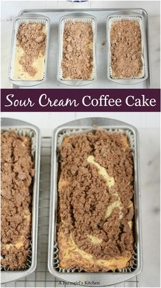 Sour Cream Coffee Cake is wonderfully moist, has a delicious streusel topping, and super easy to make! Sour Cream Coffee Cake is wonderfully moist, has a delicious streusel topping, and super easy to make! Baking Recipes, Cake Recipes, Dessert Recipes, Pastry Recipes, Top Recipes, Bread Recipes, Köstliche Desserts, Delicious Desserts, Plated Desserts