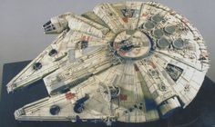 Re: Falcon Progress/ more new piccys page 13 I hate to come in here like a noob.but isn't the original painted with a mix of those Floquil. Millennium Falcon Model, Han Solo And Chewbacca, Nave Star Wars, Film Pictures, Star Wars Models, Star Wars Ships, The Empire Strikes Back, Star Destroyer, Falcons