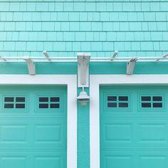 Because it's my happy color... It's a beach cottage life. aqua turquoise teal mint seafoam aquamarine tiffanyblue robinseggblue beachhouse coastalhome