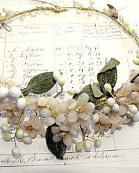 waxed orange blossom antique French bridal wreath