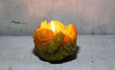 Beeswax Candle moth night butterfly gothic style