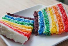 homemade rainbow layer cake - (buttermilk vanilla cake) recipe 3