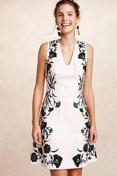Embroidered Bellflower Dress #anthropologie