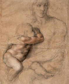 Drawing by Michelangelo (1475-1564)  .  .  .  #draw#drawer#draws#drawers#drawing#drawings#drow#drows#drower#drowers#drowing#drowings#artist#art#portrait#portraits#fogurativedrawer#gallery#artgallery
