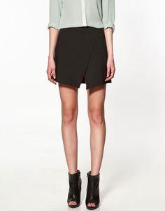 zara skirt with front split, $50