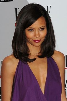 Thandie Newton wows with a shoulder-length hairstyle