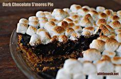 A Little Nosh: Dark Chocolate S'mores Pie (Secret Recipe Club)