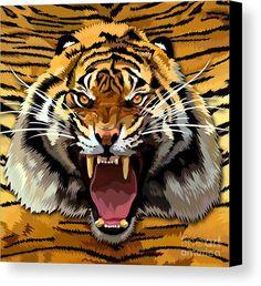 Tiger Roar Canvas Print Available for @pointsalestore #pattern #feather #native #animal #beast #bird #eagle #hawk #eagleeyes #hawkeyes #birdeyes #eaglehead #hawkhead #birdhead #leopard #albinoleopard #tiger #lion #hyenas #hyaenas #cat #jaguar