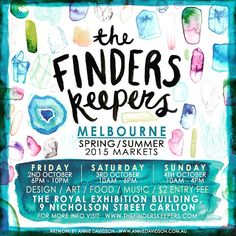 I'm so looking forward to (& slightly nervous with anticipation) having my debut appearance at @finders_keepers #Melbourne this weekend. Would love to see my lovely Melbourne Nzuri folk in person so come & say hello. #NzuriOrganics #melbournefinderskeepers