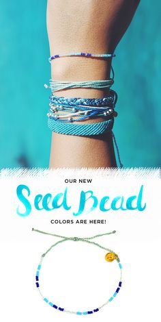 New Seed Bead colors have arrived at Pura Vida! Style your wrist this season with beautiful hand-made bracelets from Costa Rica! Every bracelet purchased helps to provide full-time jobs to local artisans. Use code 'PV20' for 20% off all orders plus free shipping within the U.S. Join the Pura Vida movement!