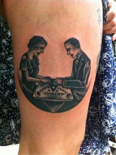 victorian ouija tattoo - simon erl  Very cool and wicked!