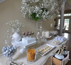 Sweets on a dresser. This was for a communion, but could be used for any event.